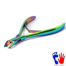 Profesional cutícula Titanio Cortador De Uñas Removedor De Trimmer Manicura Pedicura Nuevo