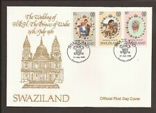Swaziland 1981 FDC. The wedding of Prince Charles & Lady Diana