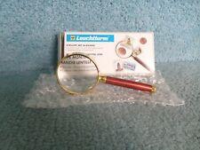 Qualité Phare Cristal Lentille 5 cm Plaqué Or Rose-bois loupe X 3 Bargain
