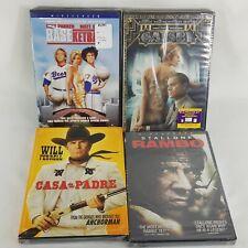 The Great Gatsby, Rambo, Baseketball, Casa de mi Padre 4 pack Nib Movies Dvd's