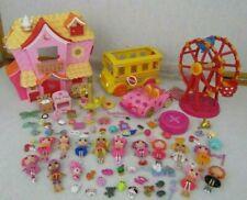 Lalaloopsy Dollhouse School Bus Remote Control Car Dolls Pets Accessories Lot