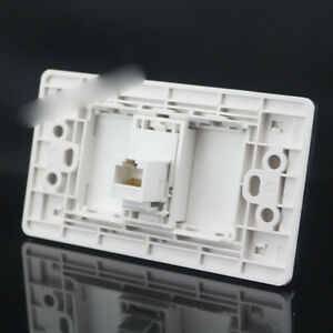 Wall Socket 1 Port Socket Network Ethernet LAN CAT5e Port Socket Panel 120x70mm