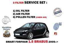 FOR SMART FORFOUR 1.5 BRABUS 454 2005-> NEW OIL AIR POLLEN 3 FILTER SERVICE KIT
