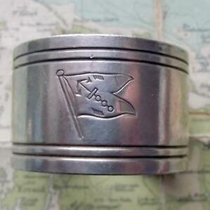 c1920 Original Emmigrant Ship ANCHOR LINE silver plated Napkin Ring