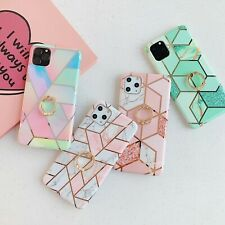Marble Phone Case Cover For Samsung Galaxy Note 10 S10 Plus S20 A70 Finger Ring