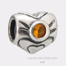 Authentic Chamilia Silver November Heart Bead I-47 *RETIRED* SALE!!