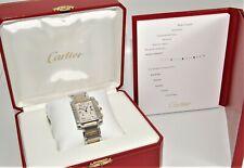 Cartier Tank Francaise Chronoflex 2303 18k Gold and SS Quartz Watch w/Box