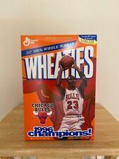 MICHAEL JORDAN 1996 CHAMPIONS CHICAGO BULLS WHEATIES CEREAL BOX - NBA - HOF