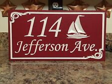 Personalized Beach House Home/Street Address Campsite Custom Carved PVC Plaque