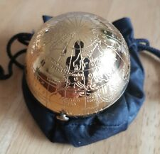 Pygmalion Vintage Engraved Globe Ladies Compact & Bag ~ Immaculate Condition