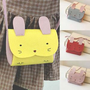 Child Kid Girl Rabbit PU Leather Small Crossbody Shoulder Bag Purse Wallet Gift