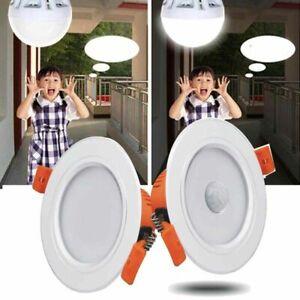 LED Recessed Lamp Motion Sensor Ceiling Downlight Panel Light Bulb Home Lighting