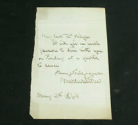 Signed Letter Marcus Stone Artist, Illustrator Charles Dickens Our Mutual Friend