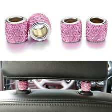 Bling Crystal Headrest Collars Car Truck SUV Seat Ring Interior Decoration Pink