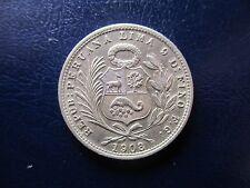 PERU 1/5 DE SOL 1908 - MUY BONITO