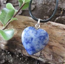 SODALITE Heart Crystal Healing Gemstone WEIGHTLOSS ~ METABOLISM Pendant Necklace