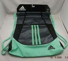 Adidas Alliance II Sackpack Bag GREEN GLOW Zipper Media Pocket String Backpack
