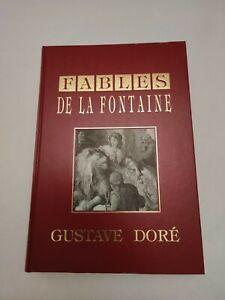 LIVRE LES FABLES DE LA FONTAINE GUSTAVE DORE 1996
