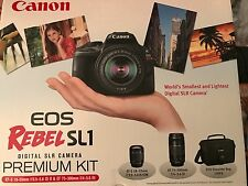 Canon EOS Rebel SL1 SLR Digital Camera w/ 18-55 IS STM, 75-300mm Zoom Lens Kit