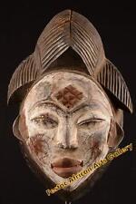 Vecchia MASCHERA TRIBALE Maiden Punu Gabon Africa Fes-0116