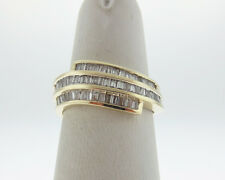 Genuine Diamonds 1/2ct Solid 14k Yellow Gold Ring 8mm Band Size 6.75