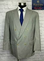 Brooks Brothers Golden Fleece Hand Tailored Double Breasted Suit Jacket 43R