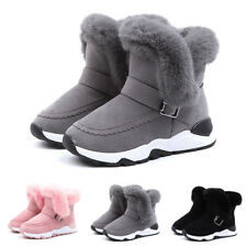 Kids Children Baby Boy Girls Child Fur Flock Winter Bootie Warm Snow Shoes Boots