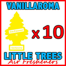 10 x VANILLAROMA LITTLE TREES AIR FRESHENERS Car Home Freshener Vanilla Scent