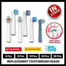 🔥20x Electric Toothbrush Heads Oral B Compatible Replacement Brush Clean White