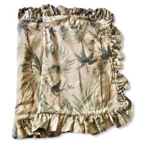 Ralph Lauren Belmont Oaks Palm Standard Pillow Shams 2 Ruffle Beige