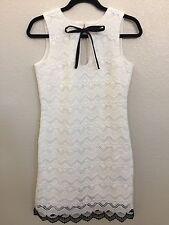 DRESS THE POPULATION White Lace Midi Dress Size M