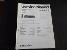ORIGINALI service manual TECHNICS sl-pg540a