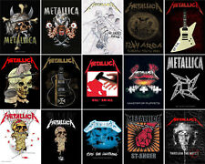 Metallica Poster Master Of Puppets Justice for All band logo Textile Flag