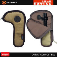 Xhunter Durable Canvas Rifle Bolt Bag Hunting Gun Bolt Storage Protect Holder