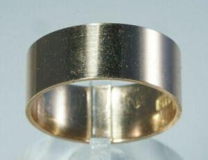 Victorian Era 8mm WIDE WEDDING BAND, Hallmarked *SOLID GOLD* 10K Rose Gold, Sz 9
