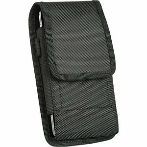Samsung Galaxy J7 J5  J3 Large Nylon Canvas Pouch Case Holster Belt Clip + Hook