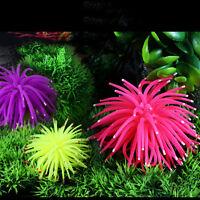 Silicone Aquarium Fish Tank Artificial Coral Plant Underwater Decorations  `.BLY