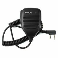 2 Way Radio Speaker Mic for Baofeng UV-5R Retevis Headsets & Earpieces Black