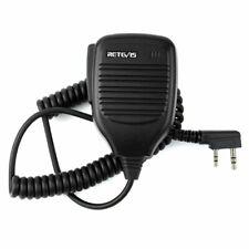 2 Way Radio Speaker Mic for Baofeng Uv-5R Retevis Headsets & Earpieces Black