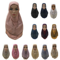 One Piece Amira Hijab Muslim Full Cover Headscarf Women Shawl Wrap Islamic Hats