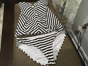 Jessica Simpson Maternity Swim Suit Bathing Suit Two Piece Size medium
