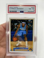 2003 CARMELO ANTHONY TOPPS ROOKIE PSA 8 NM-MT #223
