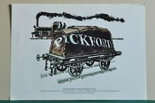 FOUR COLOURED PRINTED PICTURES OF PICKFORDS REMOVAL WAGONS AND VANS