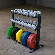 Rugged Combination Weight Plate Dumbbell Rack Y420 Gym Storage Equipment
