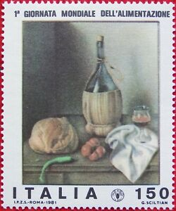 Italy 1981 Scott 1492 150L First World Food Day MNHOG
