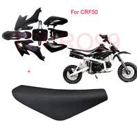 Pit Dirt Bike Black PLASTICS + Flat SEAT CRF50 50cc 110cc 125cc Atomik Thumpstar