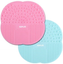 Silicone Brush Cleaner 2 PCS Make Up Brushes Cleaning Pad Little Rubber Mat 10 *