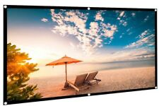 "Electrovision 100"" 16:9 White Indoor & Outdoor Foldable Projector Screen Curtain"