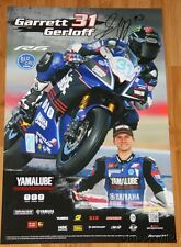 2015 Garrett Gerloff signed Graves Yamaha YZF-R6 Supersport MotoAmerica poster