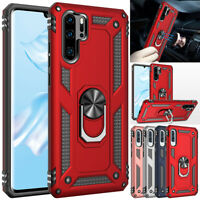 For Huawei P30 Pro P20 LITE Y5 2019 Case Rugged Armor Ring Holder Stand Cover